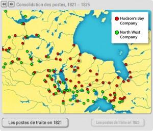 La traite des fourrures dans l'Ouest canadien en 1821