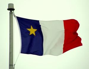 Drapeau des Acadiens créé en 1884 à leur deuxième convention nationale.