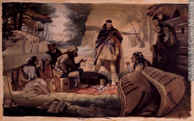 Radisson et Des Groseillers établissant le commerce des fourrures dans le Nord-Ouest, 1662
