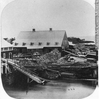 Scierie Hamilton, ville de Hawkesbury, comté de Prescott, vers 1859