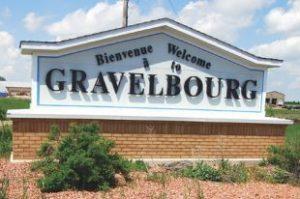 Panneau d'accueil bilingue de Gravelbourg