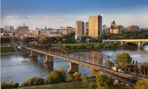 Ville de Prince Albert, le long de la rivière Saskatchewan Nord