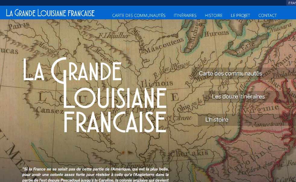 La grande Louisiane française site, site sur les communautés francophones